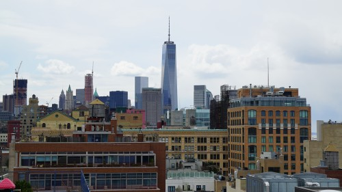 Cityscape, NYC including the Freedom Tower. Viewed from the Whitney Museum. Photograph: Miguel Benavides.