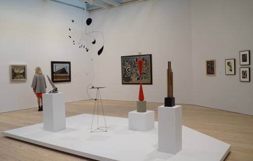 Whitney Museum. Exhibition view, including a Calder work. Photograph: Miguel Benavides