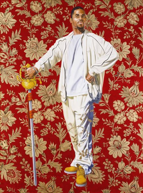 Kehinde Wiley. Willem van Heythuysen, 2005. Oil and enamel on canvas, 96 x 72 in (243.8 x 182.9 cm). Virginia Museum of Fine Arts, Richmond; Arthur and Margaret Glasgow Fund, 2006.14. © Kehinde Wiley. (Photograph: Katherine Wetzel. © Virginia Museum of Fine Arts).