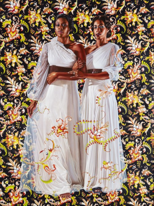 Kehinde Wiley. The Two Sisters, 2012. Oil on linen, 96 x 72 in (243.8 x 182.9 cm). Collection of Pamela K. and William A. Royall, Jr. © Kehinde Wiley. Photograph: Jason Wyche.