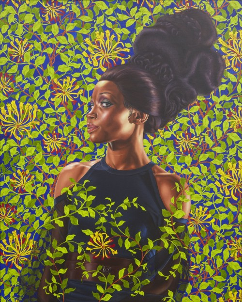 Kehinde Wiley. Shantavia Beale II, 2012. Oil on canvas, 60 x 48 in (152.4 x 121.9 cm). Collection of Ana and Lenny Gravier. © Kehinde Wiley. Photograph: Jason Wyche.