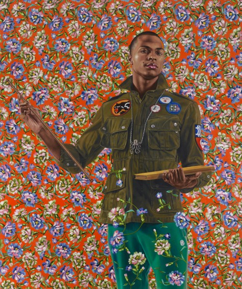Kehinde Wiley. Anthony of Padua, 2013. Oil on canvas, 72 x 60 in (182.9 x 152.4 cm). Seattle Art Museum; Gift of the Contemporary Collectors Forum, 2013.8. © Kehinde Wiley. (Photograph: Max Yawney, courtesy of Roberts & Tilton, Culver City, California).