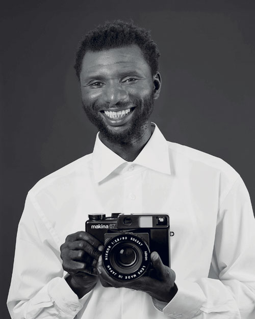 Christopher Williams. Mustafa Kinte (Gambia), Camera: Makina 67 506347 … Dirk Schaper Studio, Berlin, July 20, 2007. 2008. Private Collection, London. Image courtesy Galerie Gisela Capitain, Cologne and David Zwirner, New York/London.