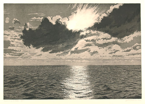 Joseph Winkelman. Approaching St. Kilda, 2003. Aquatint, 37.8 x 54.3 cm. © the artist.