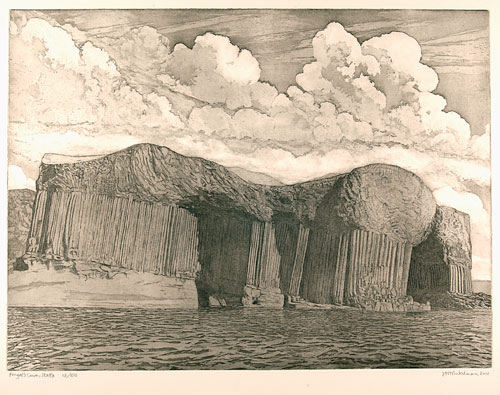 Joseph Winkelman. Fingal's Cave, 2001. Etching and aquatint, 45 x 60 cm. © the artist.