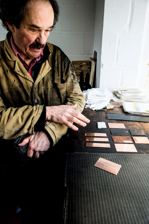 Joe Winkleman in his studio, 2014. Photograph: Nick Howard.