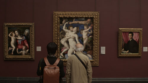 Bronzini. An Allegory with Venus and Cupid, c1545. National Gallery film still, courtesy of Zipporah Films Inc.