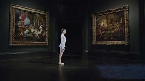 Ballet Dancer Leann Benjamin performing at the National Gallery. National Gallery film still, courtesy of Zipporah Films Inc.