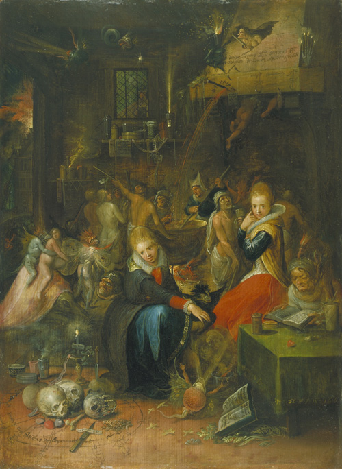 Frans Francken II. Witches' Sabbath, 1606. Oil on oak panel. © Victoria and Albert Museum, London.