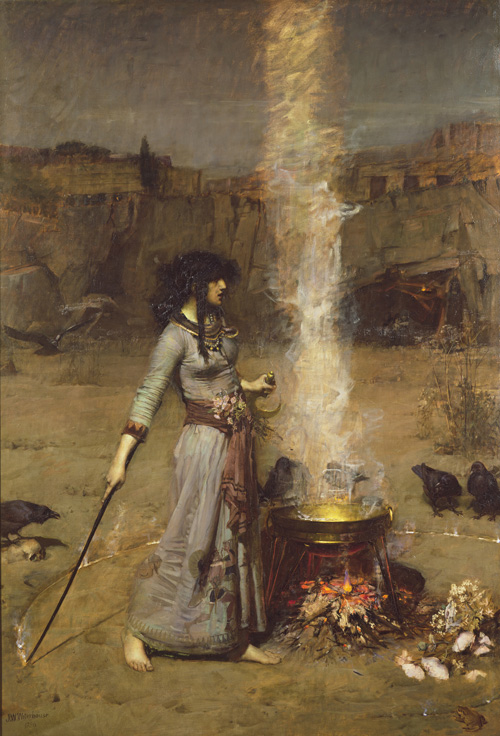 John William Waterhouse. The Magic Circle, 1886. Oil on canvas, 182.9 x 127 cm. © Tate, London.