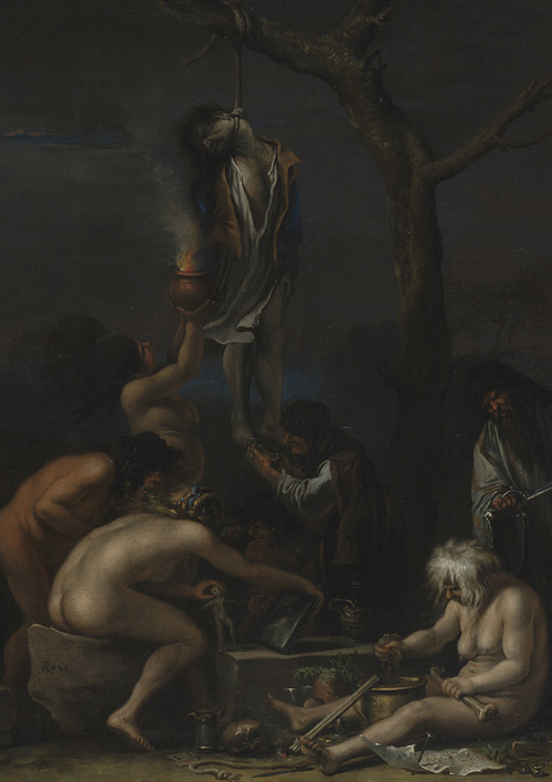 Salvator Rosa (1615–73). Witches at their Incantations (Scene of Witchcraft) c. 1646 (detail). Oil on canvas, 72.5 x 132.5 cm. © National Gallery, London.