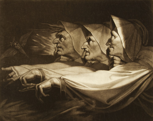 Henry Fuseli. Three Weird Sisters from Macbeth, 1785. Mezzotint on paper, 45.7 x 55.8 cm. © British Museum.