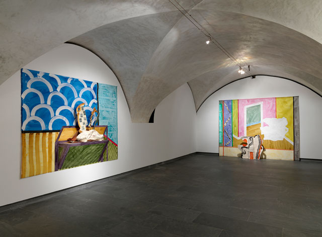 Betty Woodman. Installation view at Museo Marino Marini, Florence, Italy, 2015.