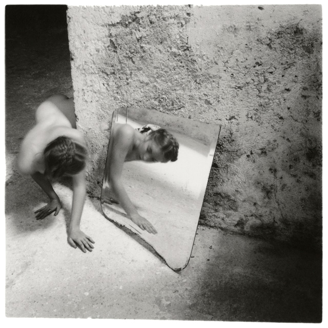 Francesca Woodman. Self-deceit #1, Rome, Italy, 1978. © George and Betty Woodman.