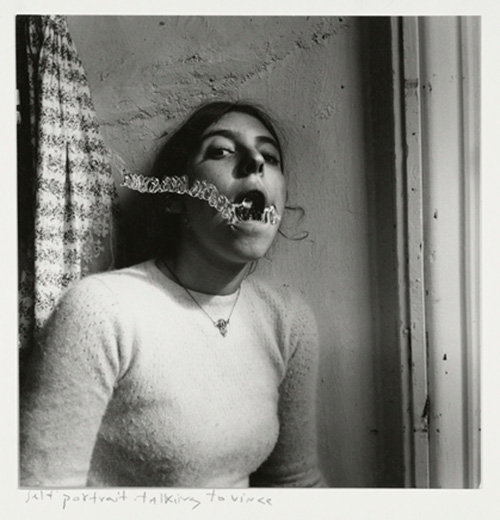 Francesca Woodman. Self-portrait talking to Vince, Providence, Rhode Island, 1977. © George and Betty Woodman.