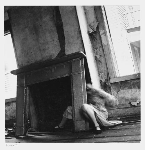 Francesca Woodman, House #4, Providence, Rhode Island, 1976. Gelatin silver estate print 25.4 x 20.3 cms, 10 x 8 inches. Courtesy George and Betty Woodman and Victoria Miro, London