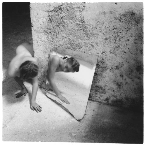 Francesca Woodman, Self-deceit #1, Rome, 1977-1978. Gelatin silver estate print 25.4 x 20.3 cms, 10 x 8 inches. Courtesy George and Betty Woodman and Victoria Miro, London