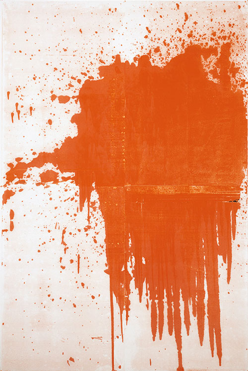 Christopher Wool. Minor Mishap, 2001. Silkscreen ink on linen, 274.3 x 182.9 cm. © Christopher Wool.