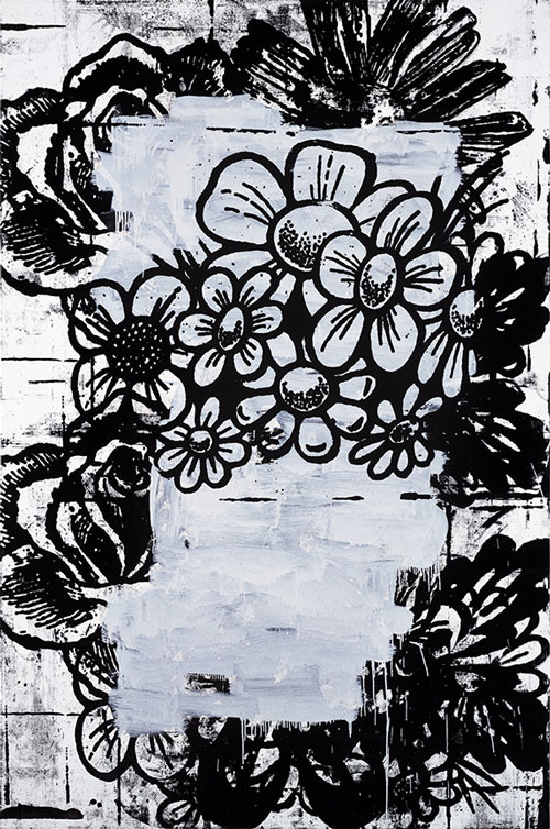 Christopher Wool. Untitled, 1994. Enamel on linen, 228.6 x 152.4 cm . © Christopher Wool.