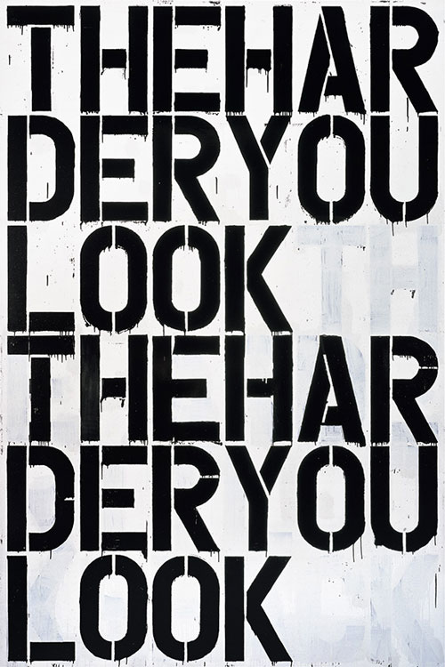 Christopher Wool. Untitled, 2000. Enamel on aluminum, 274.3 x 182.9 cm. © Christopher Wool .