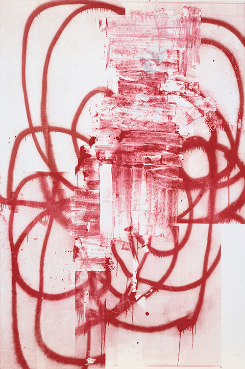 Christopher Wool. Untitled, 2001. Silkscreen ink on linen, 228.6 x 152.4 cm. © Christopher Wool.