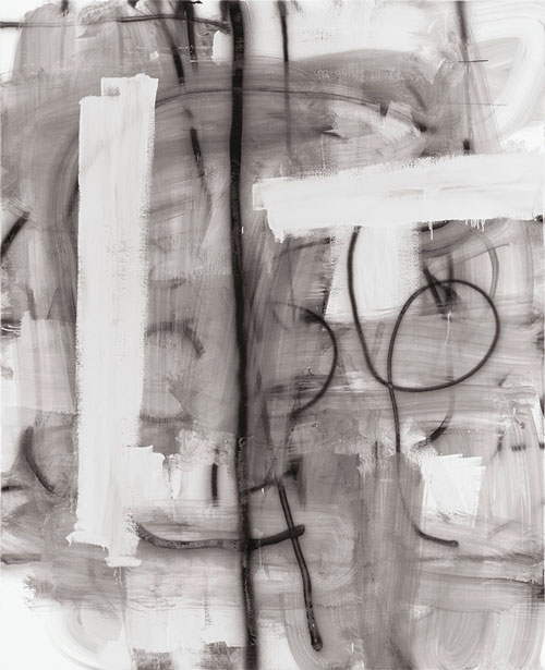 Christopher Wool. Untitled, 2010. Enamel on linen, 243.8 x 198.1 cm. © Christopher Wool.
