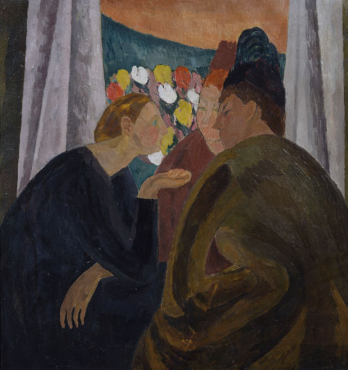 Vanessa Bell. A Conversation, 1913-16. © The Samuel Courtauld Trust/1961 Estate of Vanessa Bell, courtesy of Henrietta Garnett.