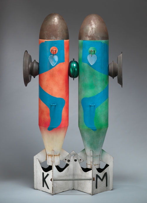 Kiki Kogelnik. Bombs in Love, 1962. Kevin Ryan/Kiki Kogelnik Foundation Vienna/New York.