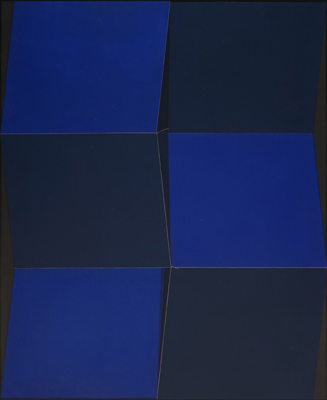 Qian Jiahua. Blue Space, 2016. Acrylic on canvas, 78 3/4 x 63 in (200 x 160 cm). © the artist, courtesy White Cube.