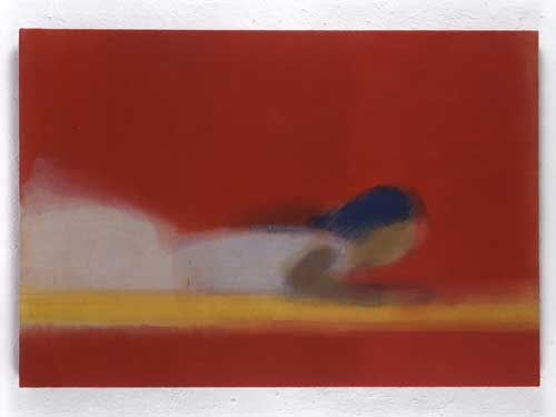 Ikemura Leiko, <i>Lying in Red</i>, 1997. Oil on canvas 90 x 130cm. Photo 