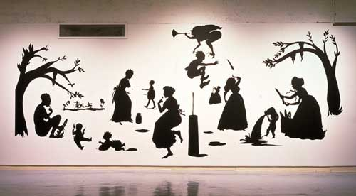 Kara Walker, <i>Untitled(Milk &amp; Bread)</i>, 1998. Cut paper and adhesive 