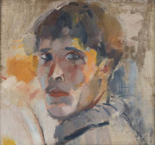 Rik Wouters. Portrait of Rik (without a hat), 1911. Oil on canvas, 30 × 32 cm. Private collection. © Photograph: Vincent Everarts Photographie, Brussels.