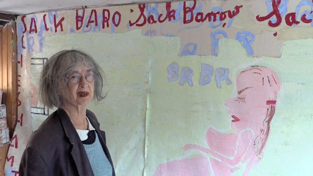 Rose Wylie talking to Studio International in her Kent studio, 7 July 2014. Photograph: Martin Kennedy.