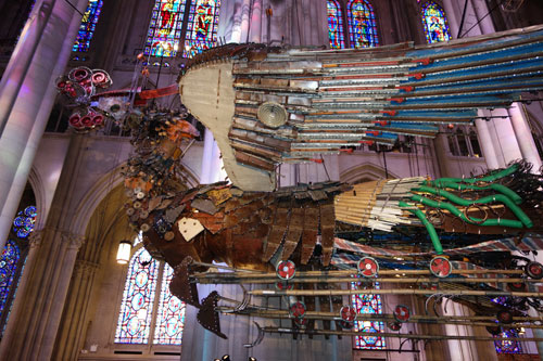 Xu Bing. Phoenix Project, 2008-2010. Installation view (6), Cathedral of St John the Divine, 2014. Photograph: Miguel Benavides.