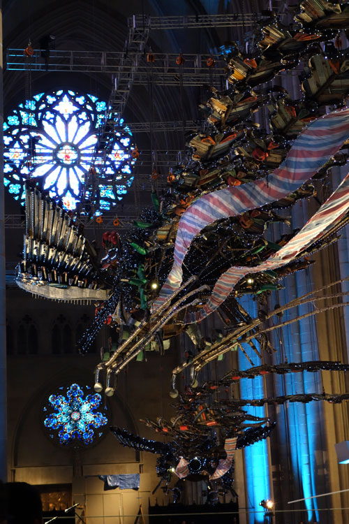 Xu Bing. Phoenix Project, 2008-2010. Installation view (8), Cathedral of St John the Divine, 2014. Photograph: Miguel Benavides.
