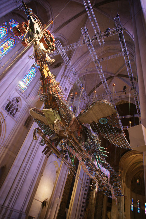 Xu Bing. Phoenix Project, 2008-2010. Installation view (1), Cathedral of St John the Divine, 2014. Photograph: Miguel Benavides.