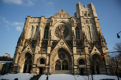 Cathedral of St John the Divine in Morningside Heights, Manhattan. Photograph: Miguel Benavides.