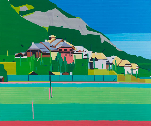 Guy Yanai. Club Med Serre Chevalier, 2017. Oil on linen, 150 x 180 cm.