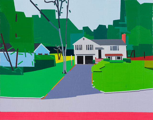 Guy Yanai. Fox Hill Road, 2017. Oil on linen, 140 x 180 cm.