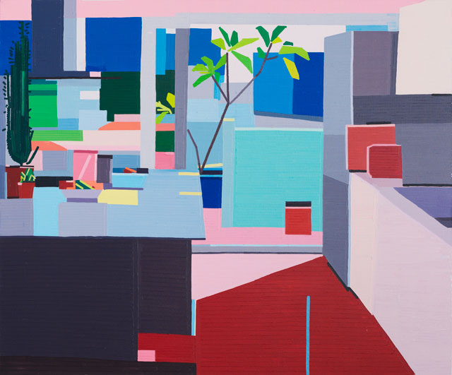 Guy Yanai. Kitchen II, 2016. Oil on linen, 152 x 183 cm.