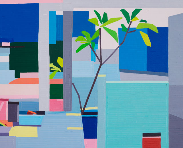 Guy Yanai. Kitchen II (detail), 2016. Oil on linen, 152 x 183 cm.