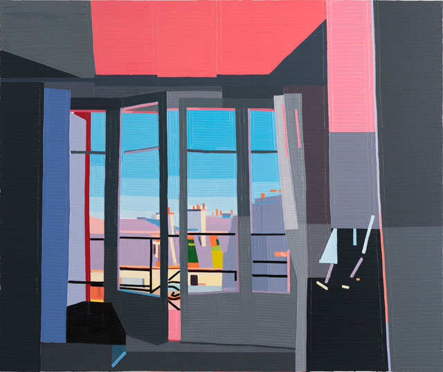 Guy Yanai. Paris (Rue de Normandie), 2017. Oil on linen, 150 x 180 cm.