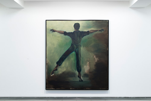 Lynette Yiadom-Boakye. Interstellar, 2012. Oil on canvas, 200 x 180 cm. Private collection. Courtesy of Corv-Mora, London and Jack Shainman Gallery, New York.