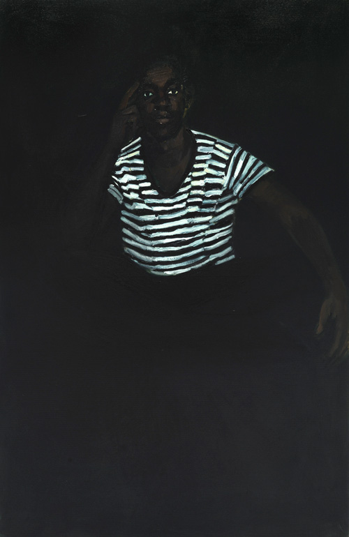 Lynette Yiadom-Boakye. 4am Friday, 2015. Oil on canvas. Courtesy of the artist, Corv-Mora, London and Jack Shainman Gallery, New York.