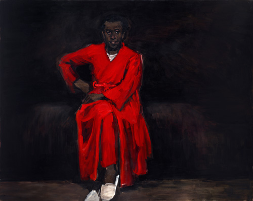 Lynette Yiadom-Boakye. Any Number of Preoccupations, 2010. Oil on canvas, 164 x 204 cm. Dr Kenneth Montague/The Wedge Collection.