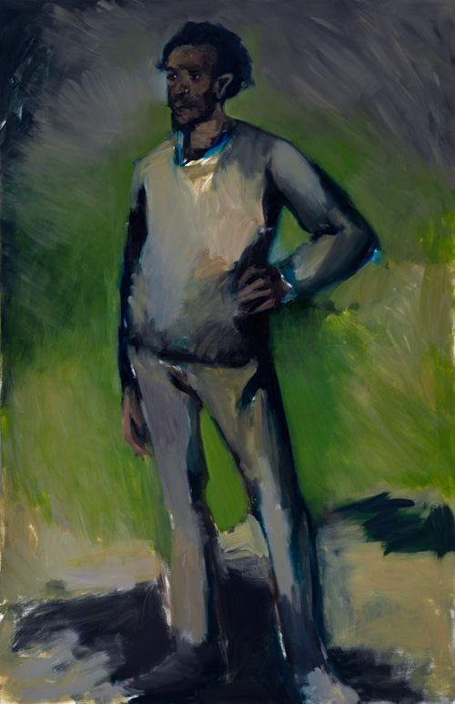 Lynette Yiadom-Boakye. 9am Jerez de la Frontera, 2010. Oil on canvas, 203.83 x 133.98 cm. Collection of Noel Kirnon and Michael Paley. Courtesy Corv-Mora, London and Jack Shainman Gallery, New York.