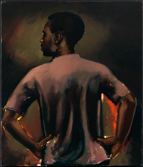Lynette Yiadom-Boakye. Some Distance From Now, 2013. Oil on canvas, 140 x 120 cm. Collection of Valerie and Gregorio Napoleone, London. Courtesy Corv-Mora, London and Jack Shainman Gallery, New York.