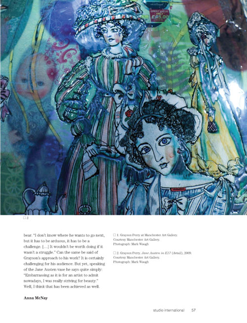 Studio International Yearbook 2011, page 57. Grayson Perry. Jane Austen in E17 (detail), 2009. Courtesy Manchester Art Gallery. Photograph: Mark Waugh.