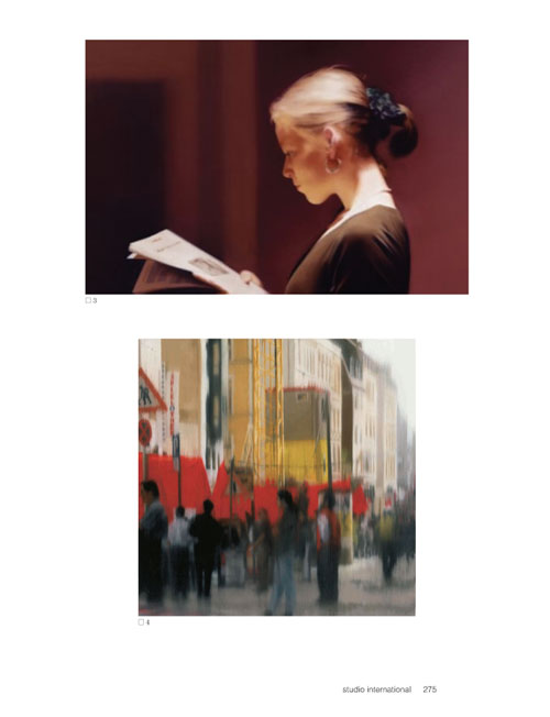 Studio International Yearbook 2011, page 275. Top: Gerhard Richter. Reader, 1994. © Gerhard Richter. Courtesy San Francisco Museum of Modern Art. Below: Gerhard Richter. Demo, 1997. (CR:848-3) The Rachofsky Collection © Gerhard Richter.