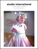 Studio International Yearbook 2011, cover. Image: Grayson Perry at Manchester Art Gallery. Courtesy Manchester Art Gallery. Photograph: Mark Waugh.